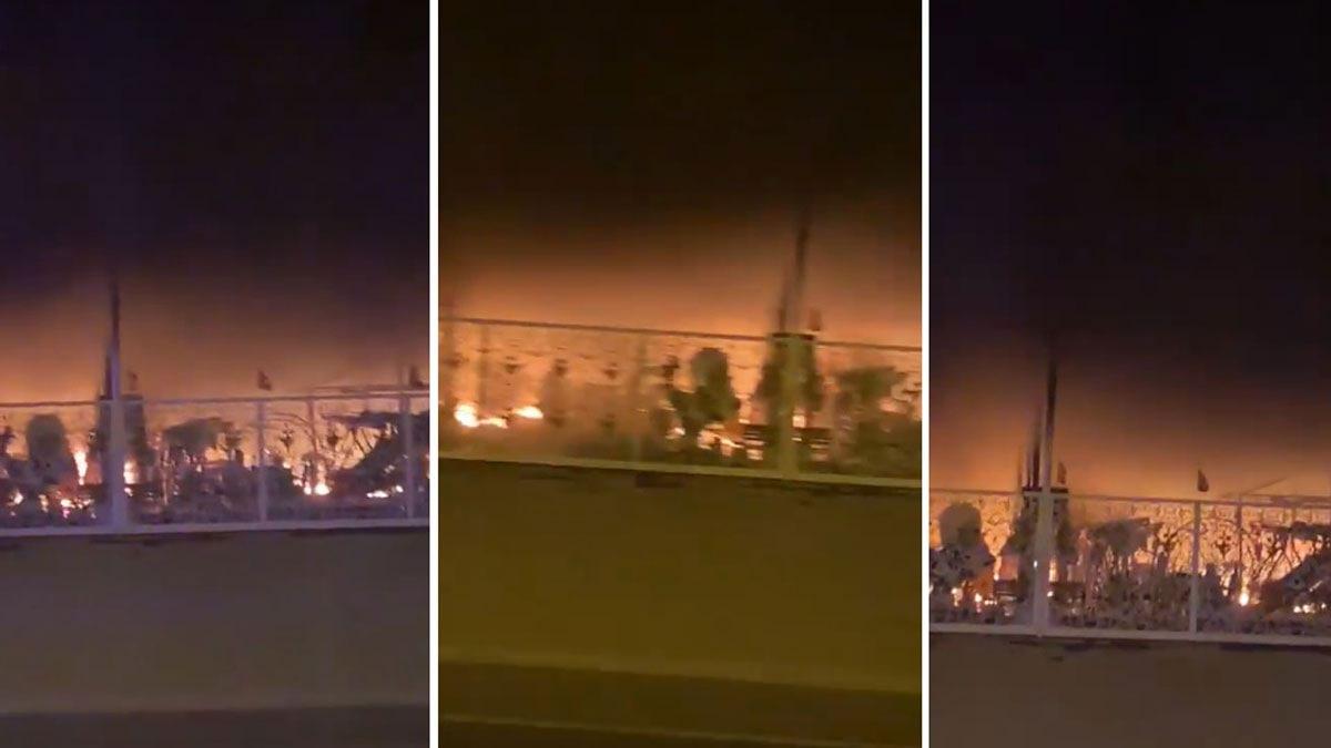 """الإمارات ..  السيطرة على حريق """"سوق الجمعة"""" في الفجيرة (فيديو)"""