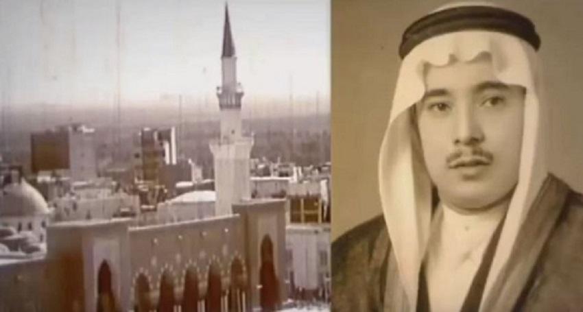 بالفيديو  ..  أول أذان يُرفع من المسجد النبوي قبل 66 عاما