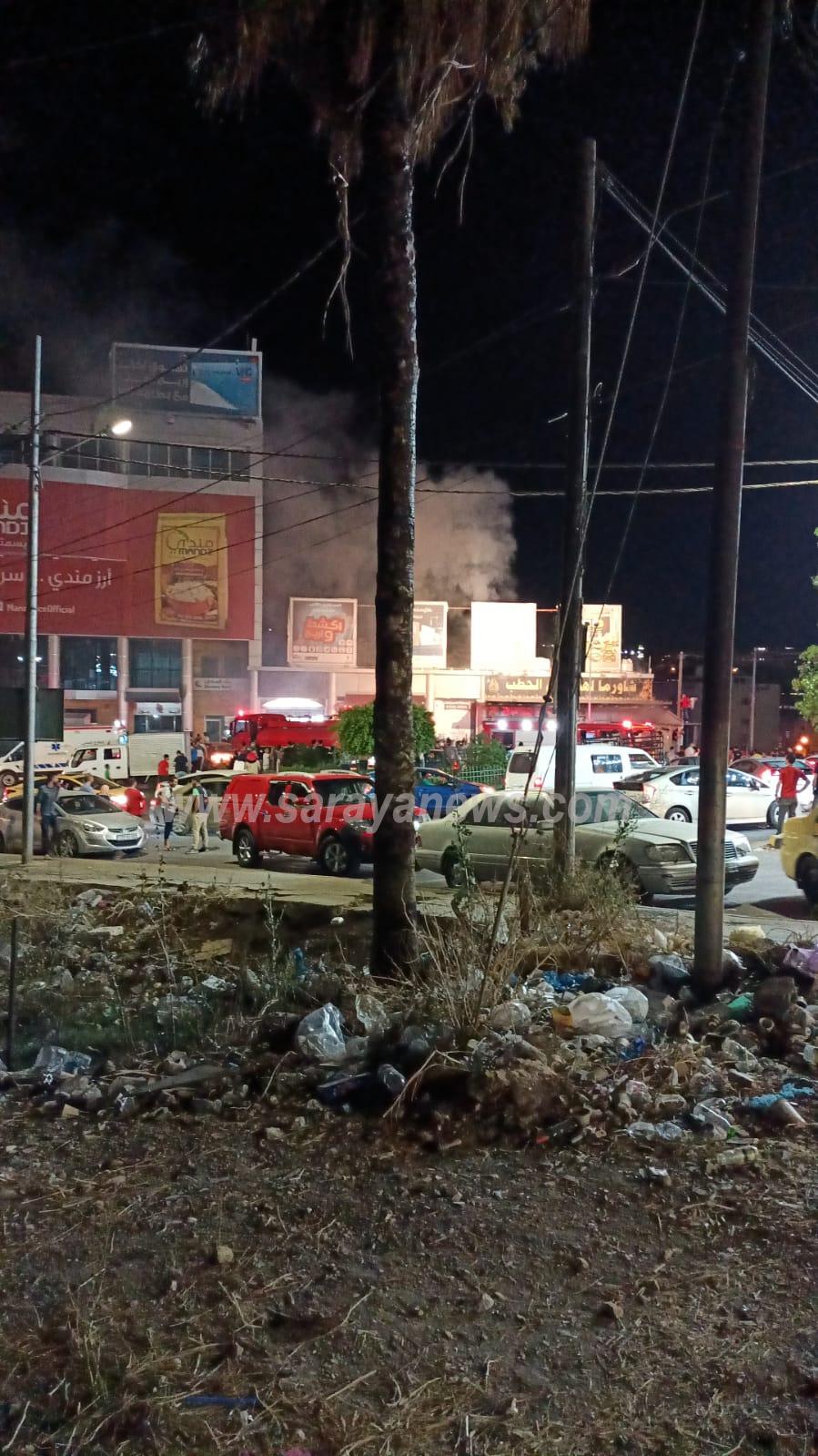 الدفاع المدني يتعامل مع حريق محدود داخل مطعم في اربد ..  صورة