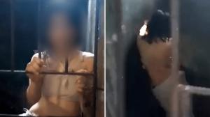 أسرة فلبينية تسجن ابنتها المريضة في قفص حديدي 5 أعوام