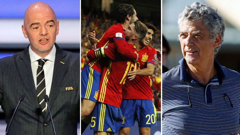 الفيفا يهدد بإستبعاد المنتخب الإسباني من المشاركة في مونديال 2018