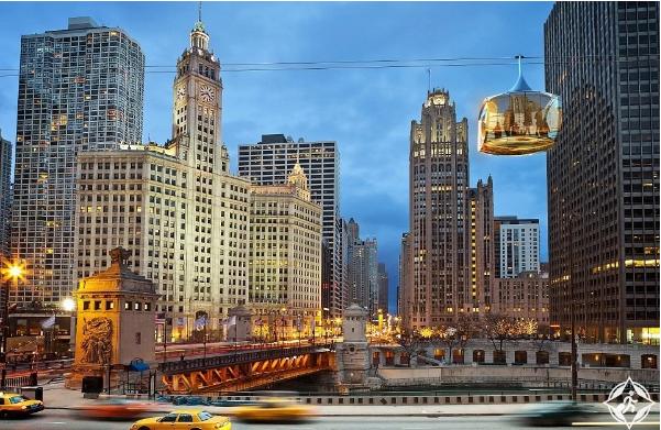 بالصور ..  شيكاغو سكاي لاين ..  أحدث معالم الجذب السياحي في المدينة