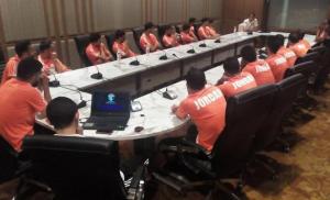 منتخب الكرة يصل بانكوك ويباشر تدريباته استعدادا لكأس ملك تايلند