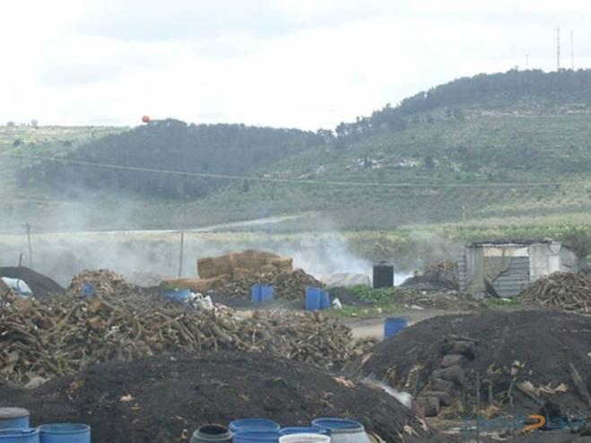 الاحتلال يصادر شاحنة محملة بالفحم في يعبد