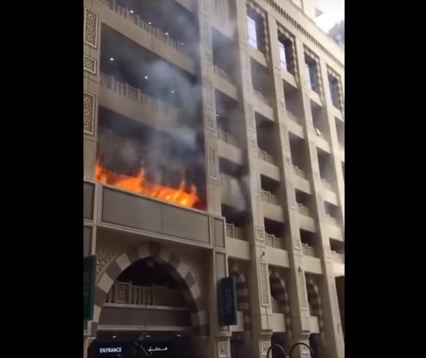 حريق ضخم في أبراج مكة  ..  فيديو