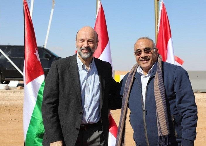 بالفيديو والصور  ..  الرزاز ونظيره العراقي يلتقيان على الحدود لافتتاح المنطقة الصناعية المشتركة