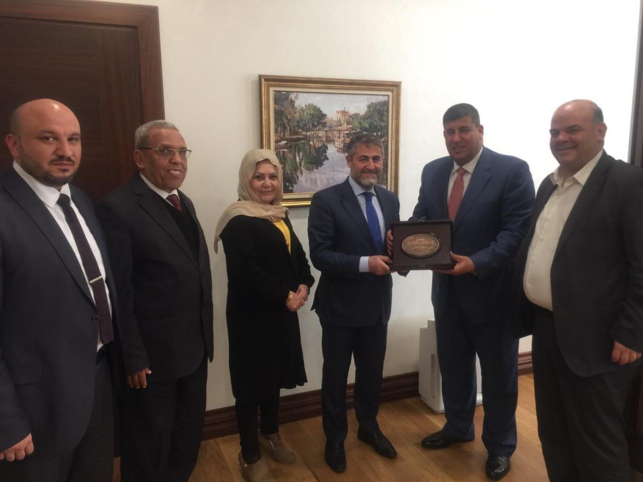 لجنة فلسطين النيابية تلتقي وزير الخزانة التركي و رئيس مبادرة برلمانيون من أجل القدس
