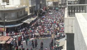 """بالصور.. آلاف الاردنيين ينتفضون في """"جمعة الغضب للمسجد الاقصى"""" بكافة محافظات المملكة"""