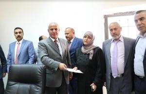 جامعة الزيتونة الأردنية تكرم والدة الشهيد صهيب السواعير العجارمه