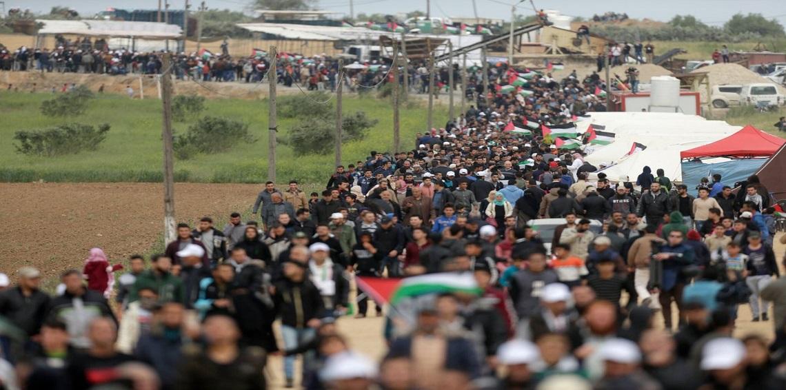 """إسرائيل تستخدم سلاح جديد """"قذر"""" لمواجهة المتظاهرين الفلسطينيين .. صورة"""