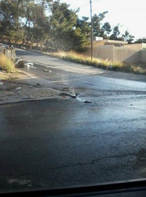 المفرق :شوارع بلدة الدجانية تفيض بالمياه والأهالي يناشدون