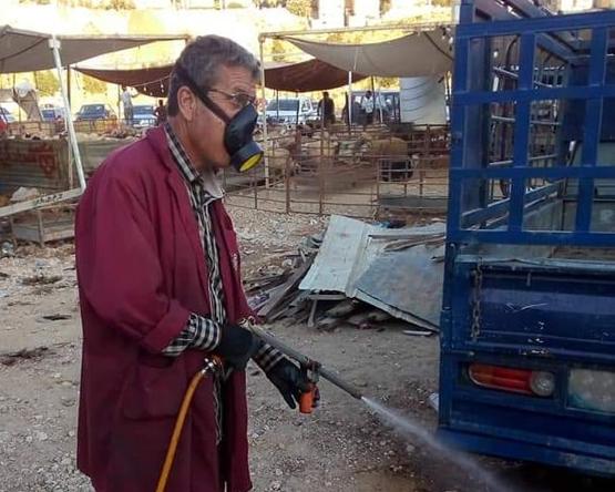 امانة عمان تعقم مواقع بيع الاضاحي