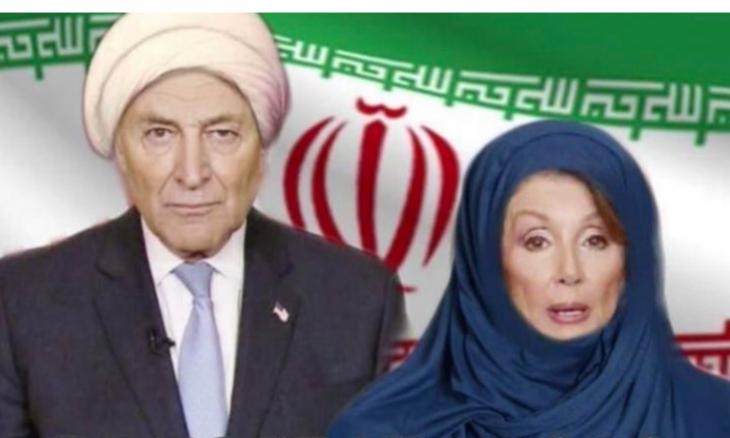 بالصور  ..  ترامب يهاجم منتقديه و ينشر صورة مركّبة تظهر بيلوسي بالحجاب