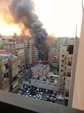 بالفيديو والصور  ..  4 قتلى بانفجار ضخم يهز معقل حزب الله في بيروت