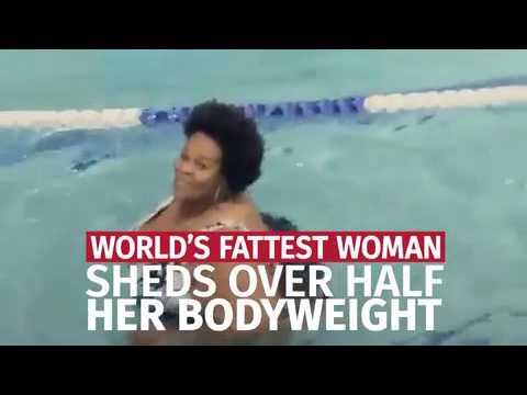 بالفيديو ..  أثقل امرأة في العالم تخسر 275 كغم من وزنها