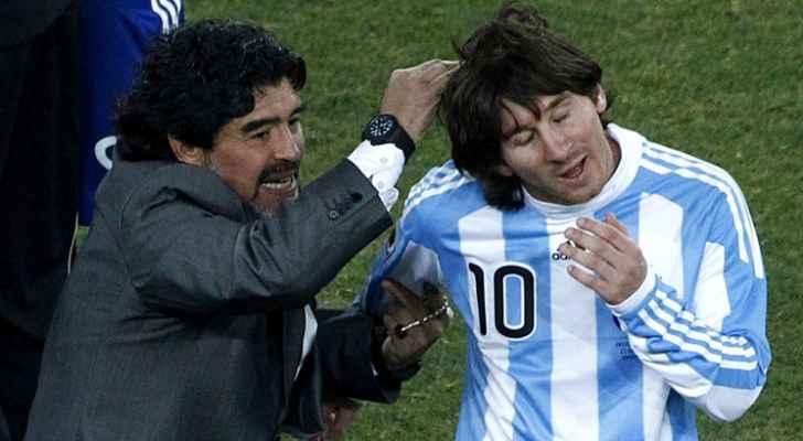 مارادونا يهاجم ميسي