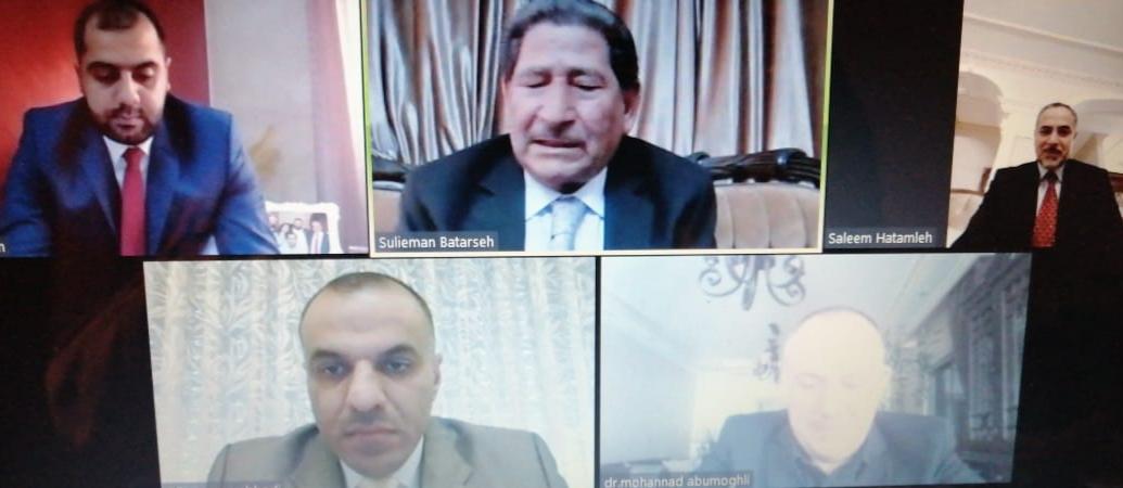 """مناقشة رسالة الماجستير الثالثة عشر عن بعد في """"عمان العربية"""" بعنوان العرف الإداري كمصدر من مصادر المشروعية"""