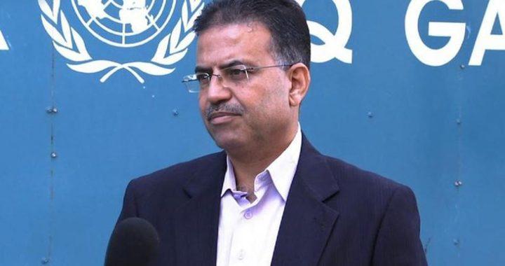 الاونروا يناشد المجتمع الدولي بالتحرك لانقاض اهالي غزة