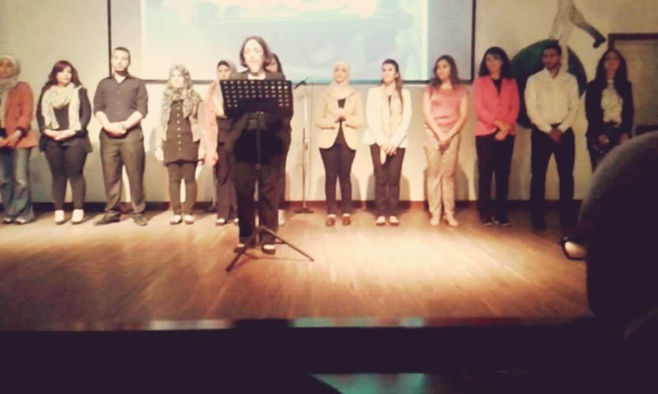 نشاط فني ثقافي لنادي اللغة الإنجليزية في جامعة البترا