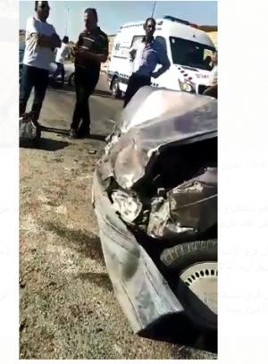 فيديو ..  وفاة شخص وأصابة (4) آخرين إثر حادث تصادم على طريق اربد الدائري