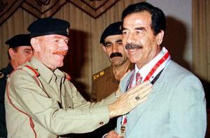 وفاة عزت إبراهيم الدوري نائب الشهيد الراحل صدام حسين  ..  ماذا قال حزب البعث في الأردن؟