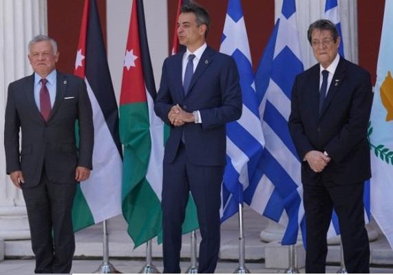 """البيان المشترك للقمة الثلاثية الأردنية القبرصية اليونانية في أثينا .. """"تفاصيل"""""""