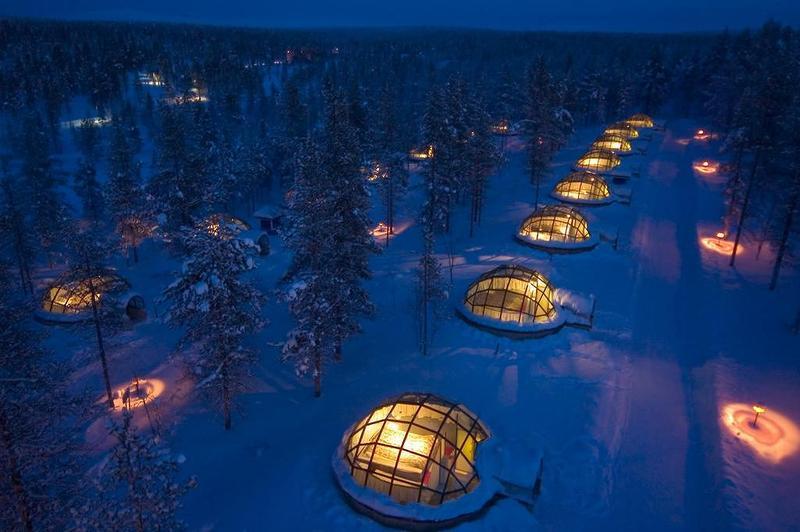 استمتعوا بمشاهدة الشفق القطبي في فنلندا من المنتجعات الزجاجية