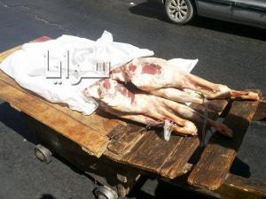 شاهد كيف يتم نقل اللحوم بمنطقة وسط البلد في عمان ... صور