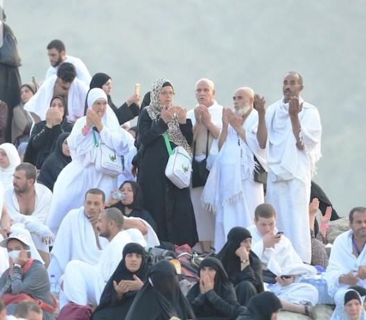 بالصور  ..  (2) مليون حاج يصعدون الى جبل عرفات لقضاء يوم الحج الأكبر