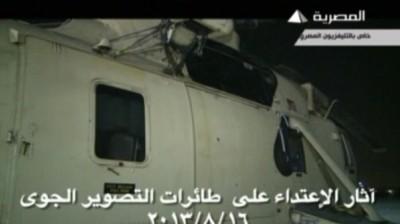 بالفيديو: مسلحون يحاولوا إسقاط مروحية فوق ميدان رمسيس