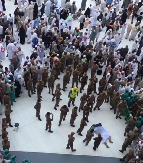 وفاة شخص سقط من سطح المسجد الحرام إلى صحن المطاف