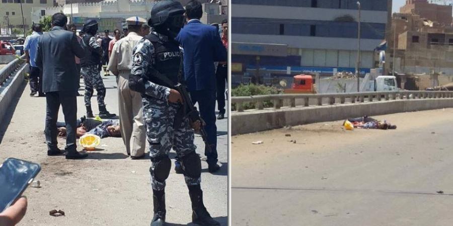 بالفيديو  ..  لحظة قيام انتحاري بتفجير نفسه بحزام ناسف في مصر