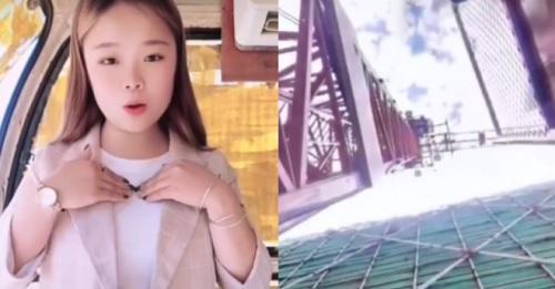 بالفيديو : جوال فتاة يوثق سقوطها من ارتفاع 50 مترًا