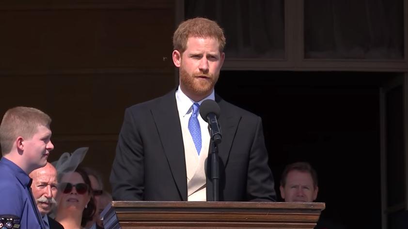 بالفيديو تعرف على من قاطع الأمير هاري أثناء خطابه؟