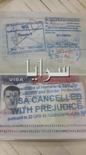 """بسبب اسمه .. الشرطة الامريكية تهين الشاب الاردني """"صدام حسين"""" وتمنعه من دخول اراضيها"""