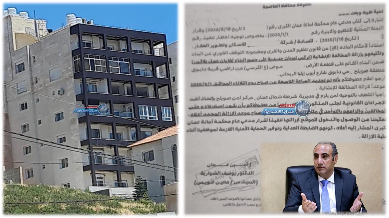 """الحلقة الثانية  ..  أمين عمان مُبرراً الموافقة على ترخيص الإسكان المخالف في دابوق: """"علي ضغوطات """""""