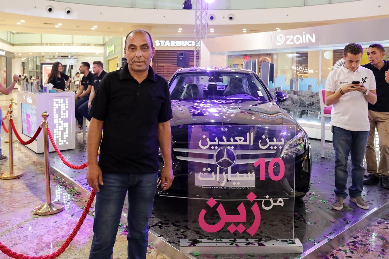 """زين تُسلّم أول رابح سيارة مرسيدس ٢٠١٩ ضمن حملتها """"بين العيدين ..  10 سيارات من زين"""""""
