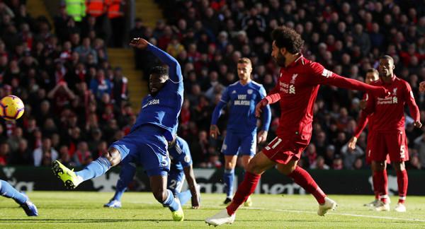 ليفربول يتخطى كارديف ويستعيد صدارة الدولي الانجليزي