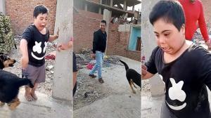 بالفيديو  ..   تجردا من كل معاني الإنسانية و الرحمة  ..  ترويع طفل احتياجات خاصة بكلب يُثير غضباً في العالم العربي