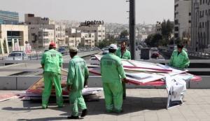 رفع 30 ألف صورة انتخابية من شوارع العاصمة