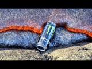 بالفيديو.. ماذا يحصل عندما تلتهم الحمم البركانية مشروب غازي