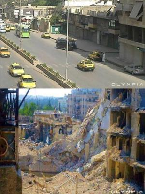بالصور ..كيف كانت حلب .. وكيف اصبحت الآن بعد الدمار ؟!