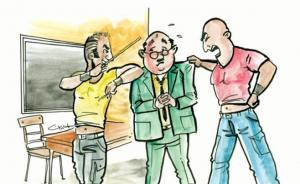 ولي امر طالب يعتدي على معلم في الرمثا ..  والبحث الجنائي يلقي القبض عليه