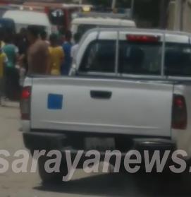 بالفيديو  ..  فرق مختصة تقوم بإزالة قذيفة صاروخية من المخلفات داخل حي سكني بالأغوار الشمالية
