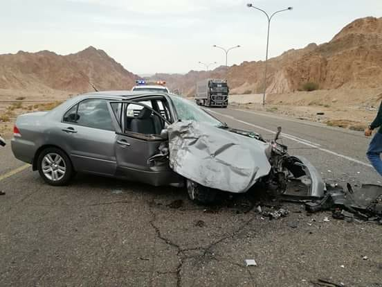 5 إصابات في حادث تصادم بالعقبة