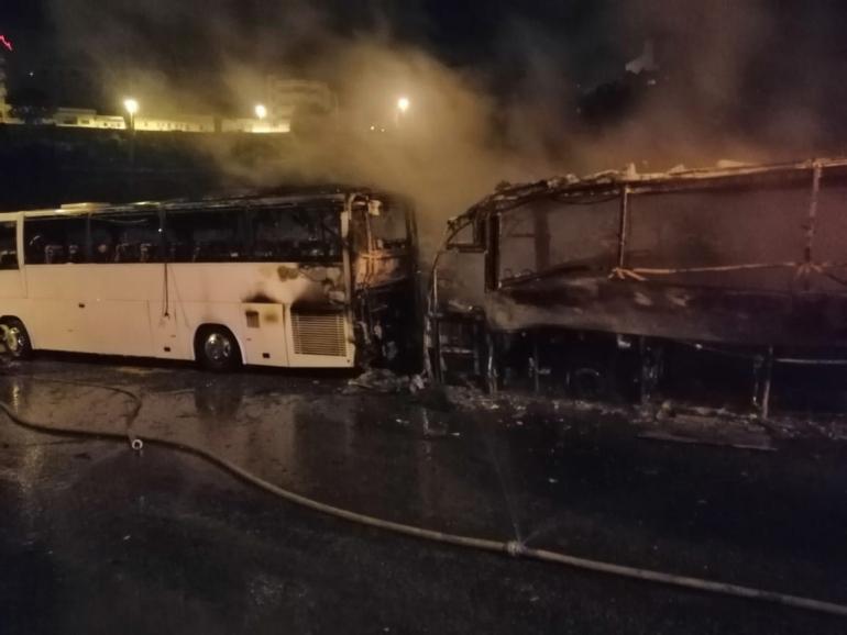 بيت لحم: احتراق حافلة وتضرر أخرى والشرطة تحقق