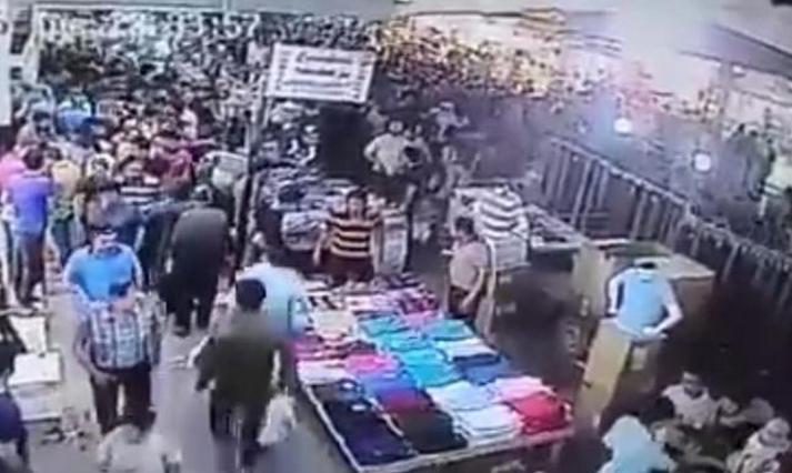 """بالفيديو  ..  صرخة """"الله أكبر"""" تسبب حالة رعب في سوق عراقي و هروب جماعي"""