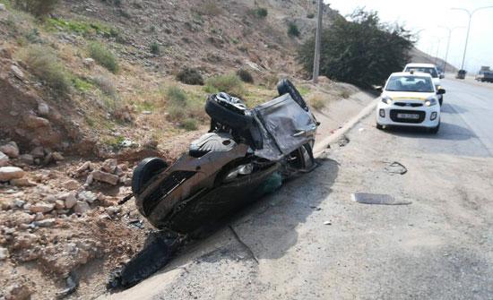 وفاة شخص وإصابة 4 بحادث تصادم 3 مركبات في منطقة الدوار الثامن