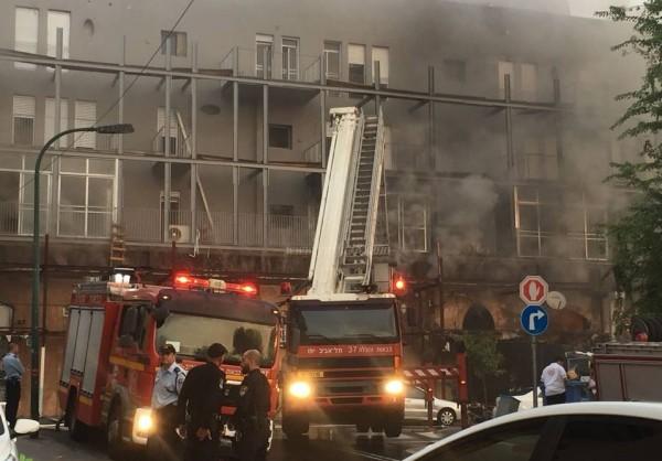 مصرع مواطن وزوجته في حريق اندلع بشقة سكنية بيافا