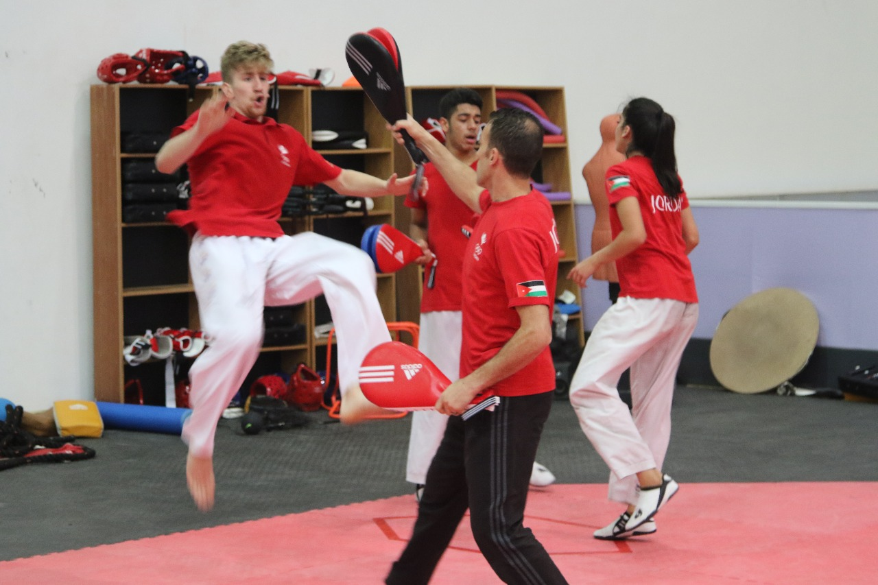 بالصور  ..  معسكر تدريب مشترك لمنتخب كرواتيا مع التايكوندو الأردنية